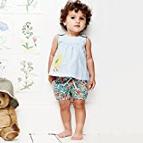MISSHALO Girls Summer Sleeveless Casual Cartoon