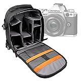 DURAGADGET Sac à dos noir pour la gamme d'appareils photos SLR / reflex Nikon D3000, Samsung NX300 et Olympus OM-DE-M5 - poignée et lanières rembourrées