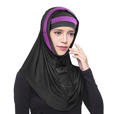 RUIXIB Hijab Femme Musulmane Bonnet Hijab Femme Turban Femme Voile Châle  Islamique Foulard Femme Fichu Femme 3be7bb000a3