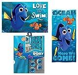 15pc Disney Finding Nemo & Dory Shower Curtain Bath Towel Foam Mat Hooks Set