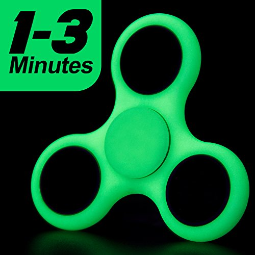 LYNEC Fidget Spinner, Hand Spinner Bearing with Luminous Fluorescent Light Glow In The Dark, Ultra Durable High Speed for ADD, ADHD Anxiety Autism Boredom Stress Focus