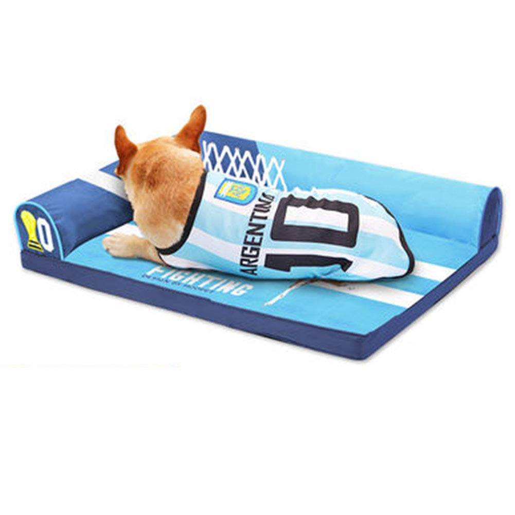 80×60cm LXLA Premium Water Resistant Dog Bed, Removable Washable Cover, Quality Oxford Fabric, for Home Car Crate Outside (Size   80×60cm)
