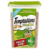 TEMPTATIONS MixUps Cat Treats (Chicken - Catnip - Cheddar - 16 oz. -Pack of 3)