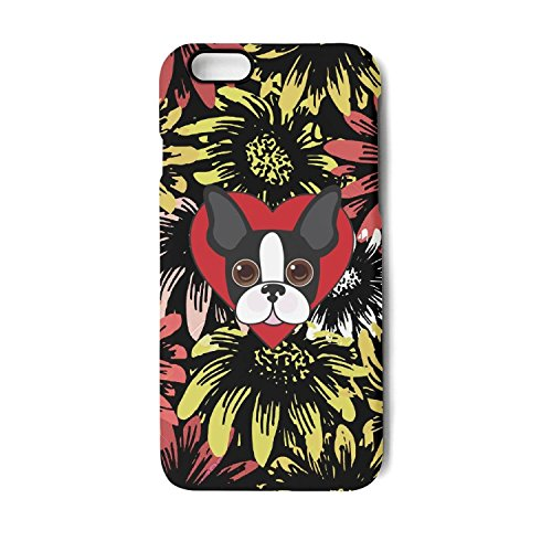 Iphone Case i love french bulldog cartoon Slim Flexible Soft Silicone Bumper Shockproof Case For Iphone 7,Iphone ()