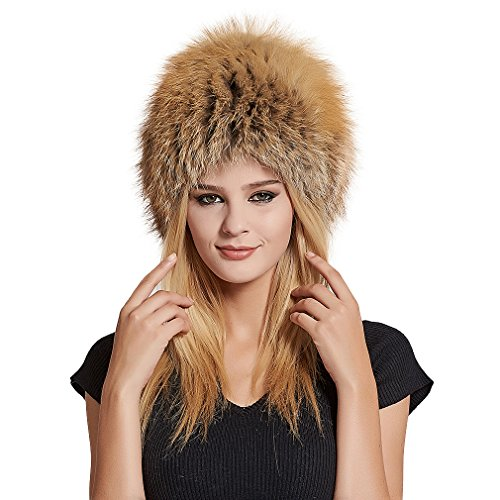 Women's Real Fox Fur Skullies Beanie Hat and Scarf Set Elastic Warm Winter Hats for Women - Fur Story by Furstory