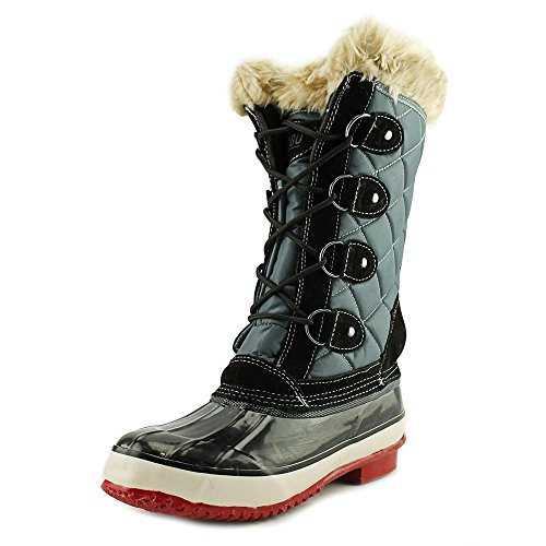 Womens Closed MELANIE Calf Weather Black Cold Grey Boots Khombu Mid Leather Toe RCqWw7p