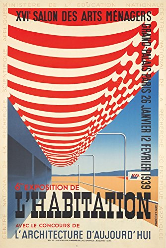 6eme Exposition de l'Habitation Vintage Poster (artist: Lecornu) France c. 1938 (16x24 SIGNED Print Master Giclee Print w/Certificate of Authenticity - Wall Decor Travel Poster)