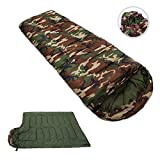 Toparchery Envelope Single Sleeping Bag Waterproof Camo Outdoor Camping Hiking Three Season Army Military