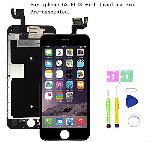 big sale 74871 b18b5 Screen Replacement Compatible with iPhone 6S Plus Full Assembly - LCD 3D  Touch Display Digitizer with Front Camera, Ear Speaker and Sensors, Fit ...