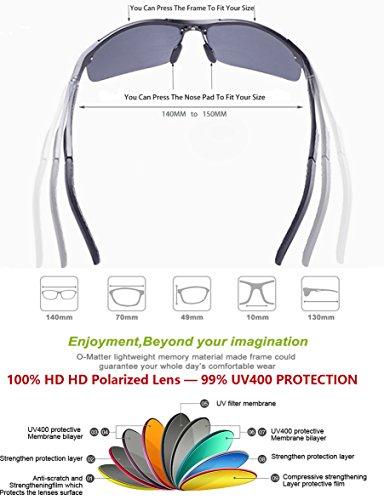 De Súper ATTCL Marco Deportes Ligero Al De Polarizado Gris Mg Metal Gafas Hombre Sol qn4gYTPn