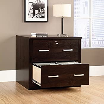 Sauder 408293 Office Port File Cabinet, Dark Alder