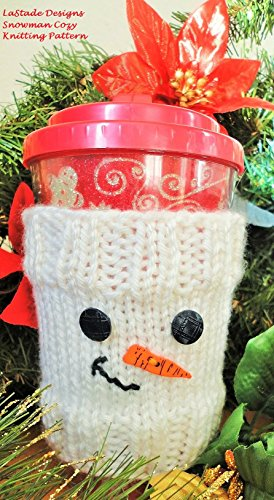 Snowman Cozy for Beverage Cup Knitting (Snowman Beverage)