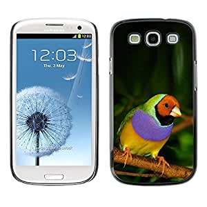 Plastic Shell Protective Case Cover || Samsung Galaxy S3 I9300 || Bird Purple Green Jungle @XPTECH