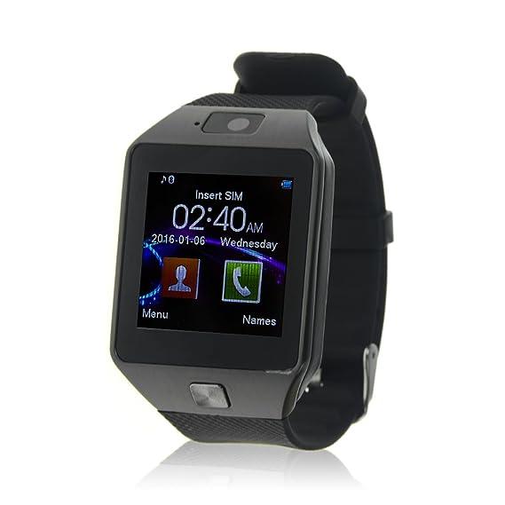 Jiazy Bluetooth Smart Watch con ranura para tarjeta SIM / Hacer ...