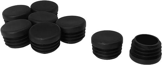 5 piezas tapones para tubos redondos tapas 55 mm gris pl/ástico tapa de extremo tapas