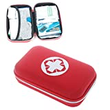 Aimeio First Aid Kit Hard Shell Case Emergency Survival Kit Medical Supplies for Home, Office, School, Car, Outdoors, Travel, Camping, Hiking