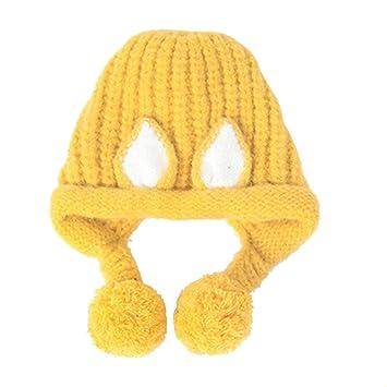 67e8ed802 XIAXIACP Cálido Gorro Niña Niño Otoño E Invierno Gorro Tejido Gorro De  Esquí De Crochet