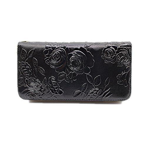 wallet Portefeuille Cuir black Monnaie Et Femmes Portefeuille Femmes monnaie En Dames Portefeuilles rose Célèbre Porte Haoling Porte 5Cnawqtt