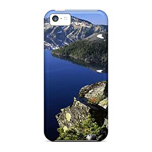 New Style MichelleCumbers Hard Cases Covers For Iphone 5c- Mystical Lake