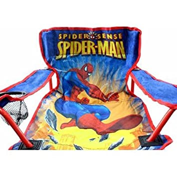 Amazing Spiderman Kids Folding Camp Chair Amazon Co Uk Toys Games Pabps2019 Chair Design Images Pabps2019Com