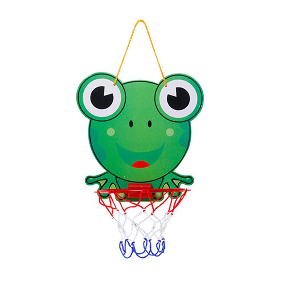 Kalaokei Kids Indoor Adjustable Frog Tiger Mini Hanging Basketball Netball Hoop Game