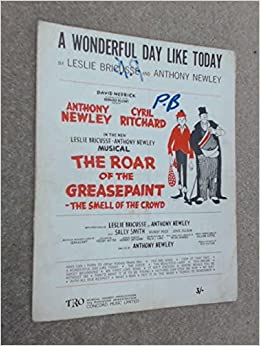 A Wonderful Day Like Today From The Musical Roar Of Greasepaint Sheet Music 1964