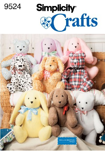 Simplicity Heigl & Nordstrom Designs Pattern 9524 Two Piece Bunnies, Puppies and Bears, Approximately 14