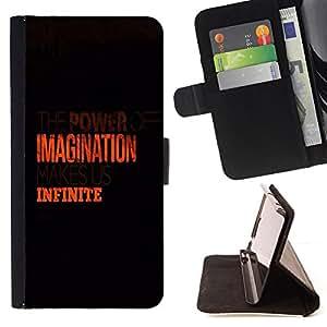 - BLACK IMAGINATION CLEAN ORANGE INFINITE - - Prima caja de la PU billetera de cuero con ranuras para tarjetas, efectivo desmontable correa para l Funny HouseFOR Samsung Galaxy S3 III I9300