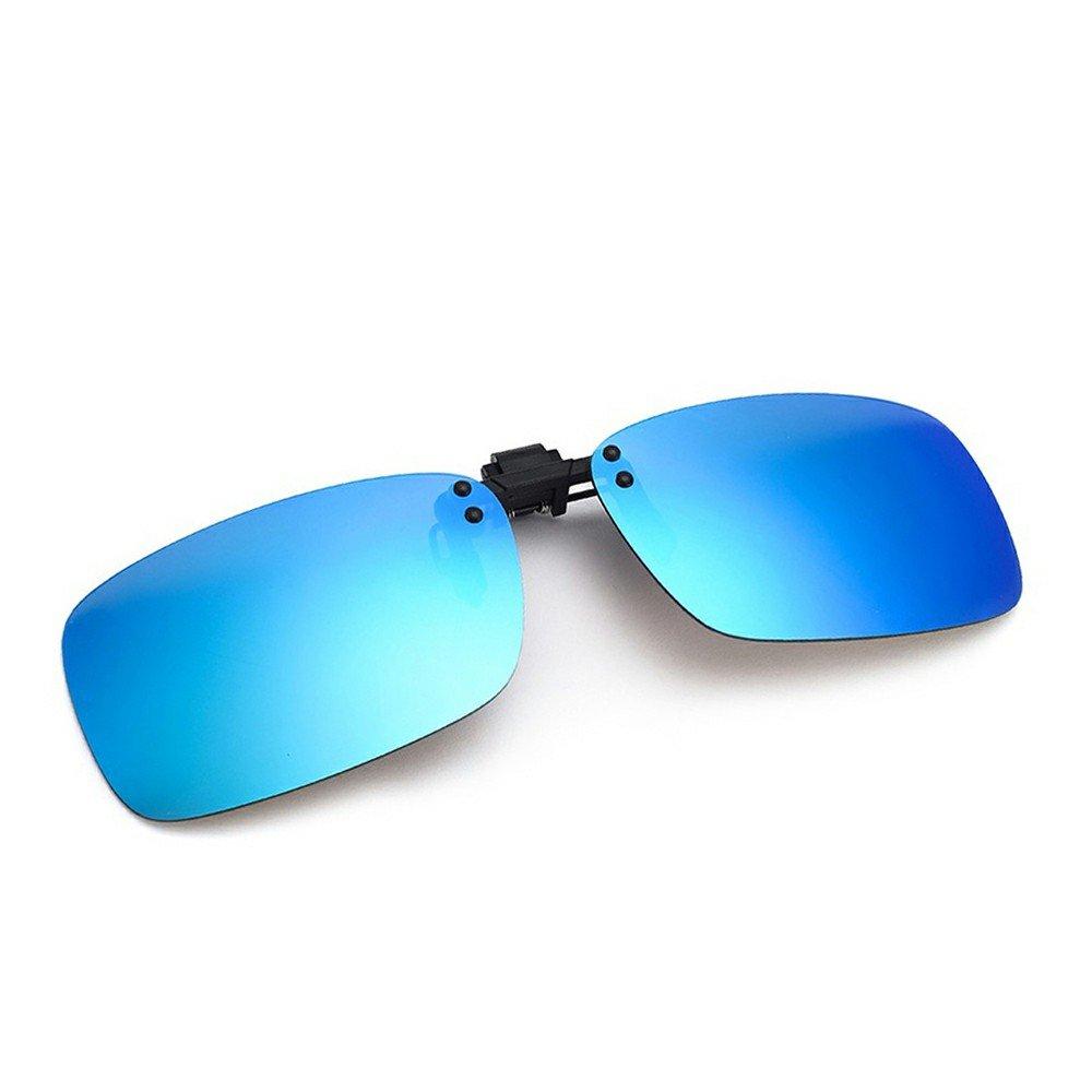 Cyxus Flash polarisée Miroir Rectangle Lentilles Lunettes de soleil Clip–Lunettes de protection UV Lunettes [Anti-Glare lunettes] [] Conduite/pêche, hommes et femmes