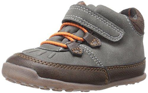 Carter's Every Step Stage 3 Boy's Walking Shoe, Hunter, Grey/Brown, 5 M US Toddler