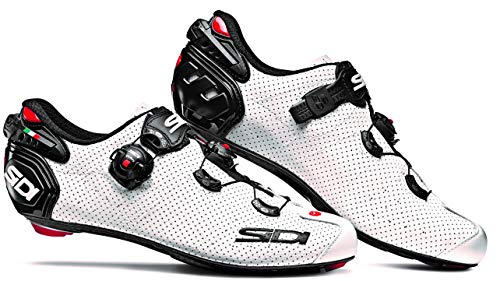 Wire 2 Air Vent Carbon Road Cycling Shoes (43.0, White/Black)
