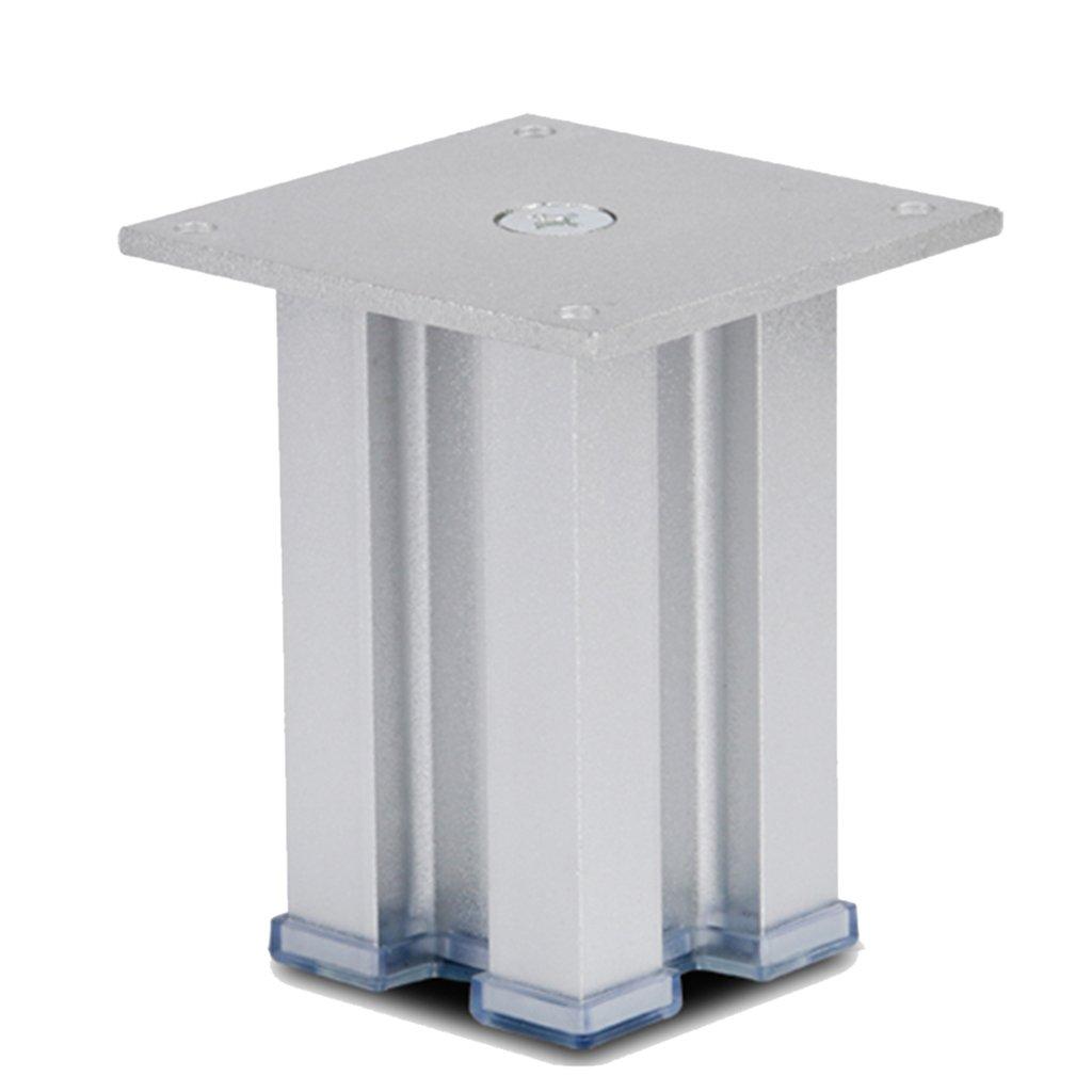 Homyl Sturdy Metal Alloy Ottoman Legs Sofa Leg Settee Table Replacement Plinth Feet 3-10inch - Silver, 25cm