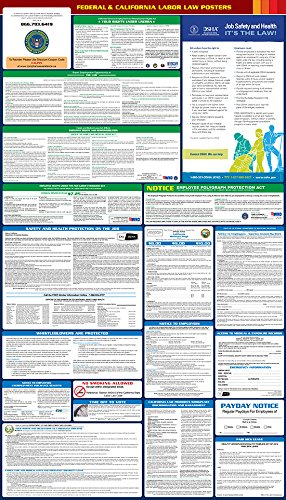 2017 California State and Federal All-in-One Labor Law Poster - English