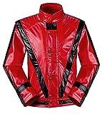 Michael Jackson Jacket Thriller Beat it Billie Jean MJ Jacket Dress Cosplay Halloween Party Coat (Weight:78-95kg H:5.9-6.3, Thriller)