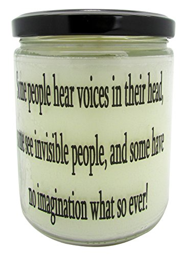 Star Hollow Candle Co Soy Imagination Quote Jar, 16 oz, Orange Clove Candle (Co Hobnail)