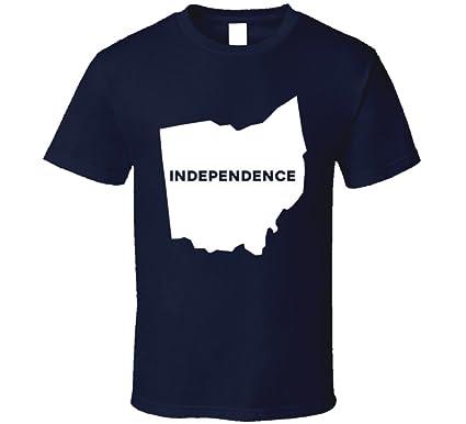Amazon Com Independence Ohio City Map Usa Pride T Shirt Clothing
