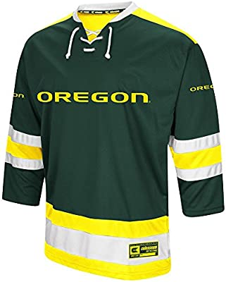 new style 17379 15722 Colosseum Mens Oregon Ducks Hockey Sweater Jersey