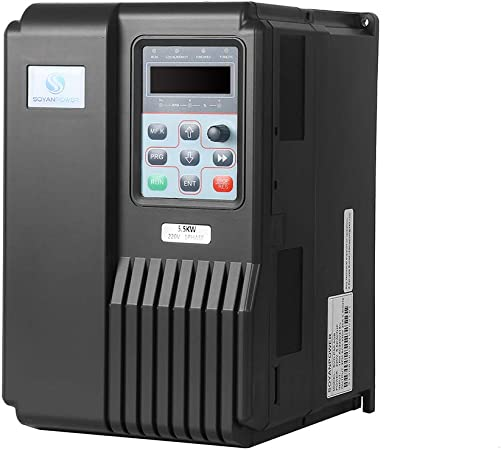 LAPOND High Performance VFD Inverter VFD Drive 7.5HP 5.5KW 220V,Variable Frequency Drive for Motor Speed Control,SVD-PS Series 5.5KW