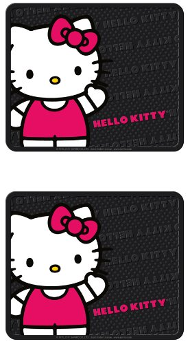 Plasticolor Hello Kitty Sanrio Waving Front & Rear Car Truck SUV Seat Rubber Floor Mats by Plasticolor (Image #2)