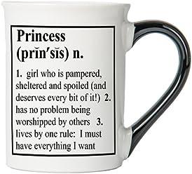 Princess Mug, Princess Coffee Cup, Ceramic Princess Mug, Custom Princess Gifts By Tumbleweed