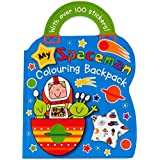 Children's Carry Colouring Book - My Spaceman - With Sticker Sheet