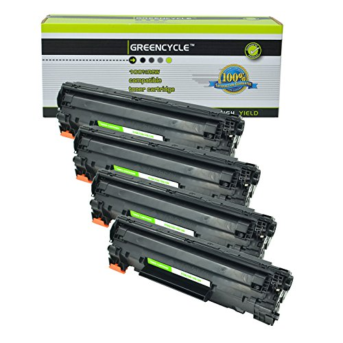 GREENCYCLE Compatible Toner Cartridge Replacement for Canon 126 CRG-126 CRG126 3483B001 ImageClass LBP6200d LBP6230dw Wireless Laser Printers (Black, 4 Pack)