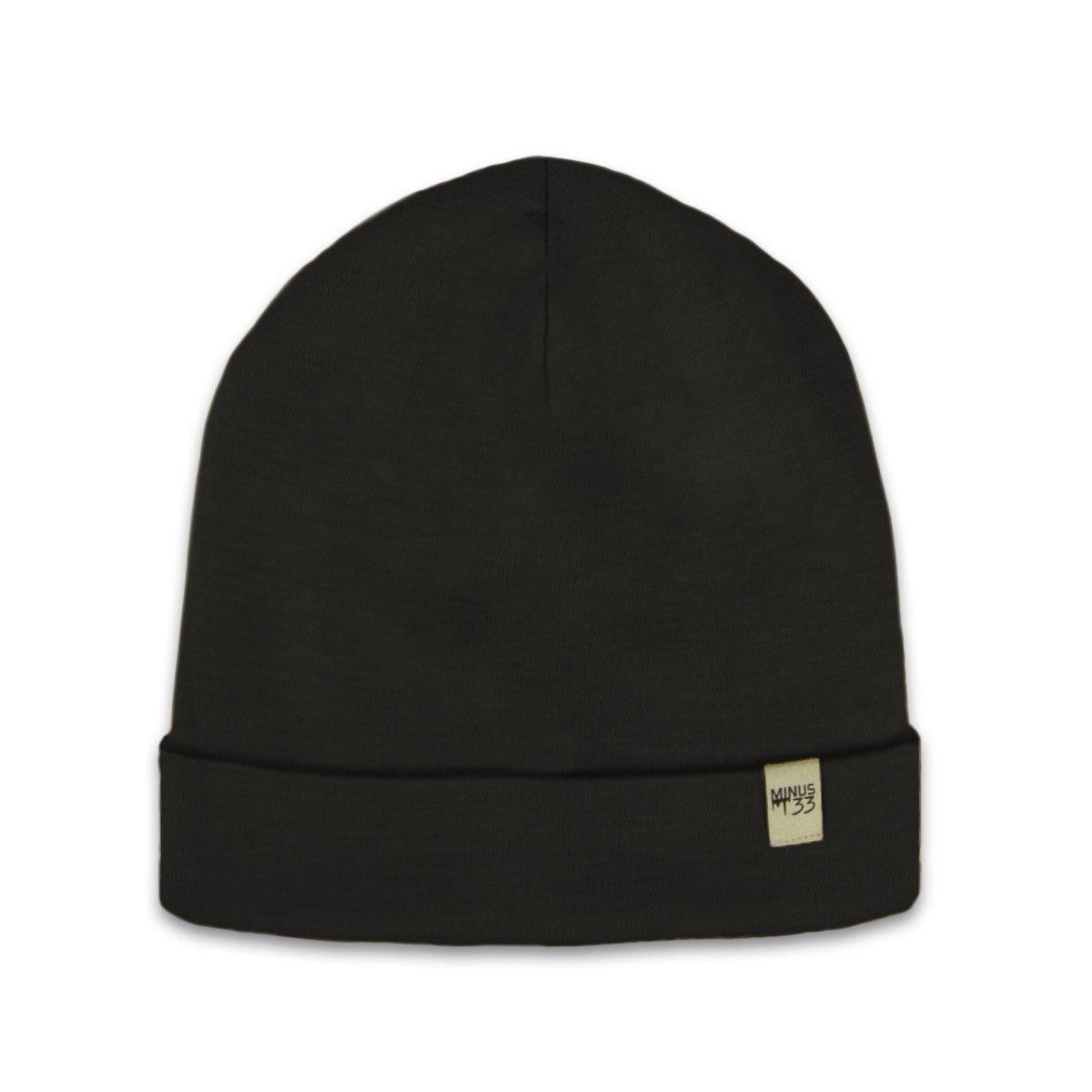 Amazon.com  Minus33 Merino Wool Ridge Cuff Beanie Black One Size  Sports    Outdoors e9e9f4495b33