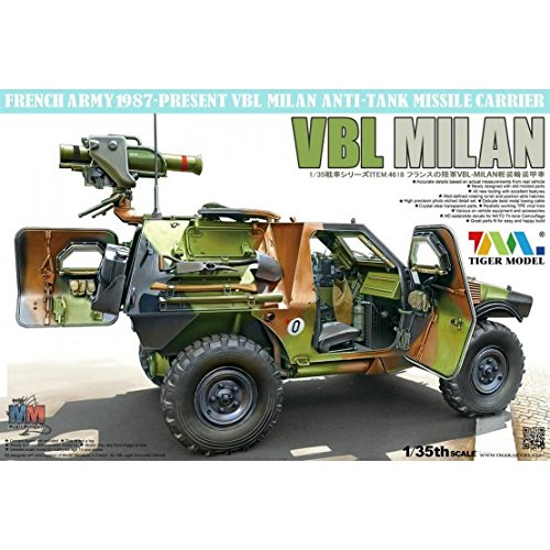 Tiger Model 1:35 French VBL with Milan Anti-Tank Missile Launcher #4618 (Best Anti Tank Missile)