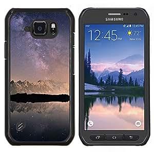 EJOOY---Cubierta de la caja de protección para la piel dura ** Samsung Galaxy S6Active Active G890A ** --Nieve Montañas Antártida Cielo