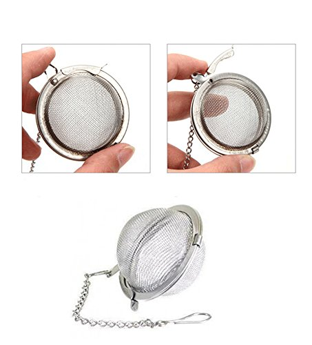 Arbor Home Premium Mini Stainless Steel Resuable Tea Strainer Ball Mesh Easy Loose Tea Leaves 2 Inches