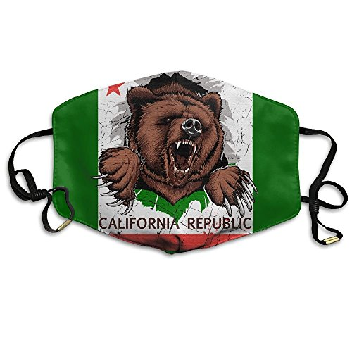 Adult California Republic Bear Flag Mouth Face Masks Women Funny Motorcycle Anti Dust Face Mouth Mask-Reusable - California Fashion Island