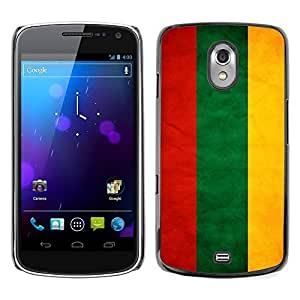 Shell-Star ( National Flag Series-Lithuania ) Snap On Hard Protective Case For SAMSUNG Google NEXUS / I9250