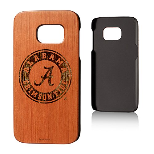 Keyscaper Alabama Crimson Tide Cherry Wood Galaxy S7 Case ()