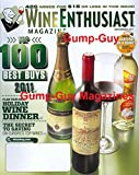 Wine Enthusiast Magazine November 2011 Bartend on a Budget Top 100 Best Buys